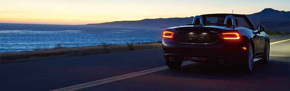 2017 FIAT 124 Spider illuminated tail lights