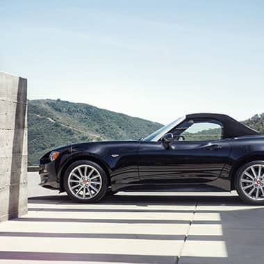 2017 FIAT 124 Spider in the hills