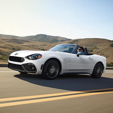 2017 FIAT 124 Spider on the open road