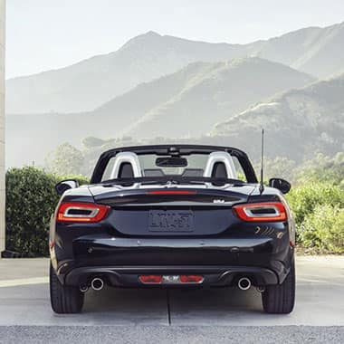 2017 FIAT 124 Spider rear view - top down