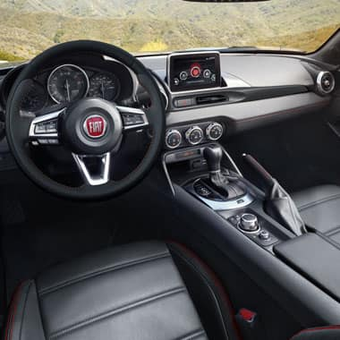 2017 FIAT 124 Spider Abarth cockpit
