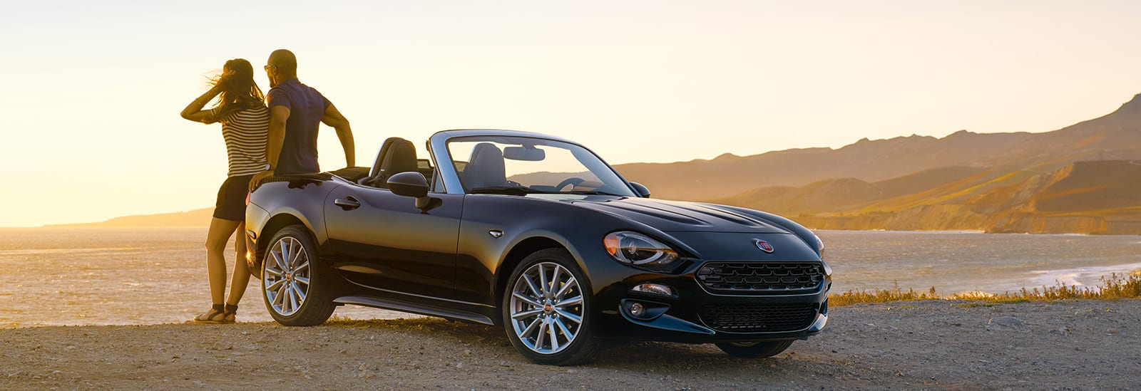 2017 FIAT 124 Spider at sunset
